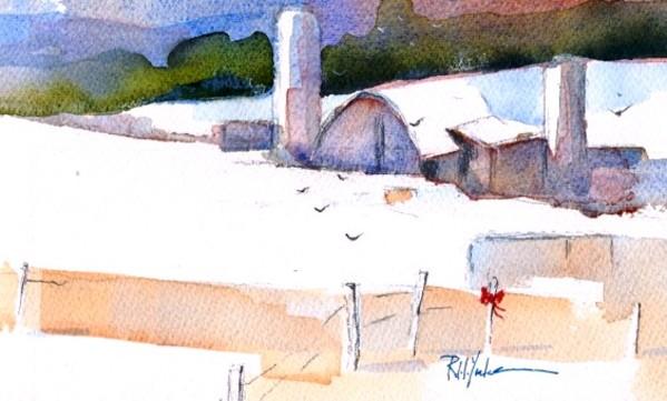 Christmas Barn by Robert Yonke