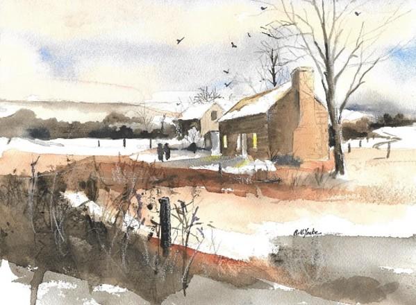 Drane House in Winter by Robert Yonke