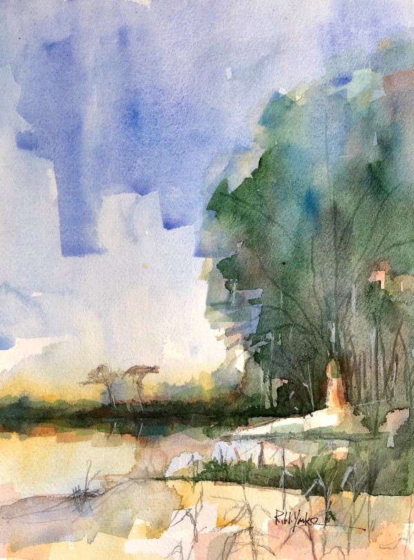 """""""Pond at Lawton Stables"""" by Robert Yonke"""
