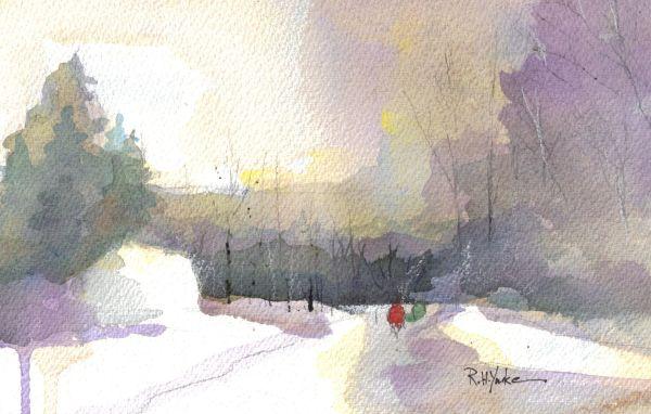 Turkey Neck Road in Winter by Robert Yonke