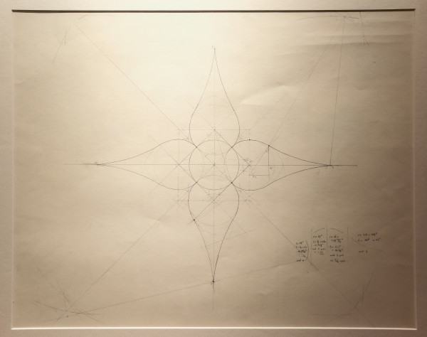 RoseWater Chandelier (Preliminary Drawing) by Corwin Bell