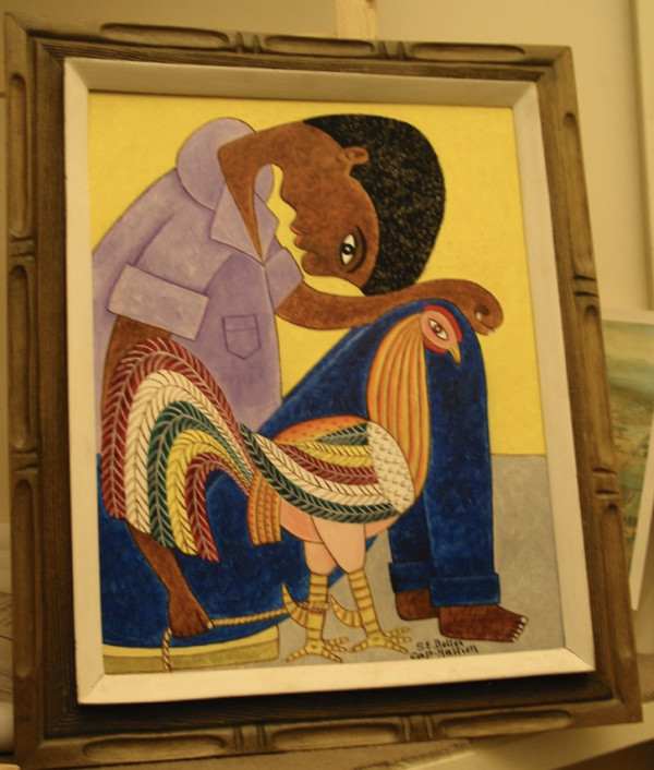 Boy With Rooster by Betlese