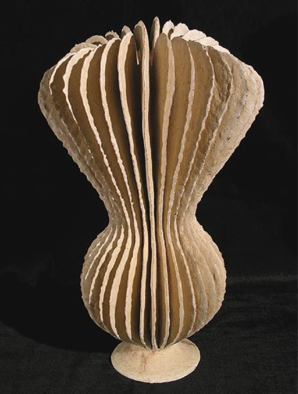 White Cream Goblet Form by Ursula Morley Price