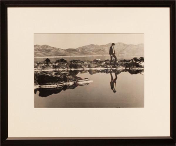 Robert Smithson on the Spiral Jetty 2 by Gianfranco Gorgoni