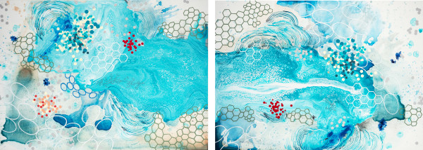 Accumulation (diptych) by Heather Patterson