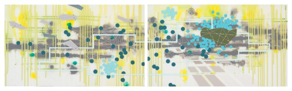 System (diptych) by Heather Patterson