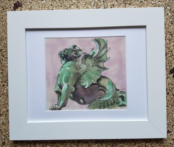 Saint Michael's Dragon: Fontaine Saint-Michel, Paris by Barnlady