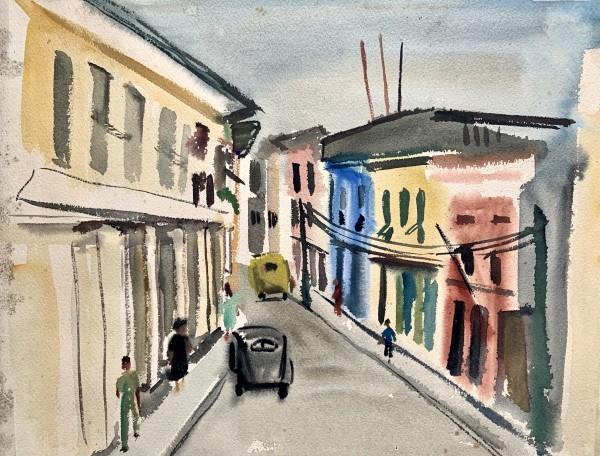 """City Street Scene"" by Josephine  Landor"