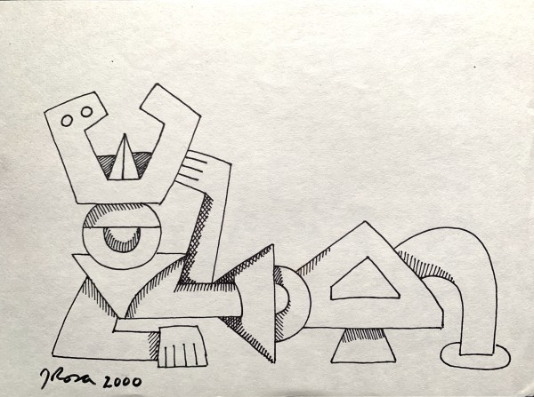 """Cubist Figure Lounging"" by John Rosa"