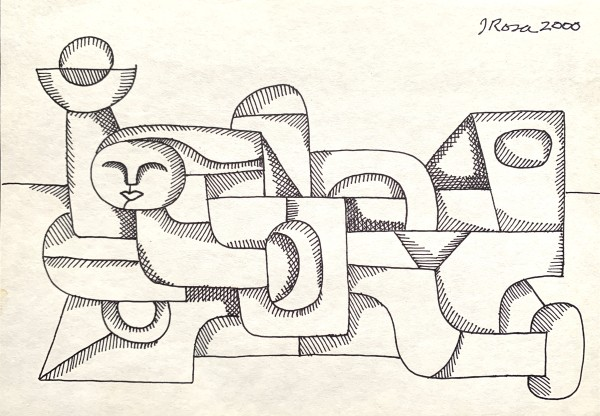 """Face with Shapes"" by John Rosa"