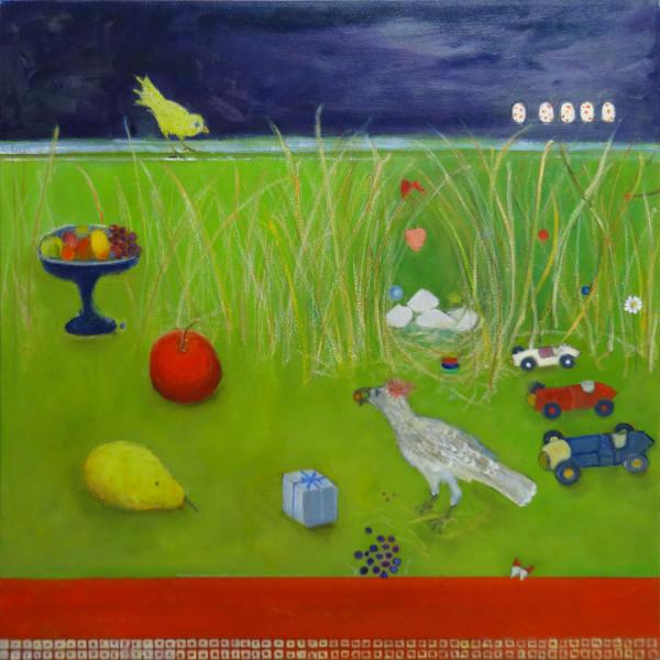"Bower Birds ""Look Darling"" by Marie H Becker"