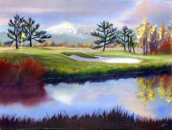 The 18th Hole Study by Pat Cross