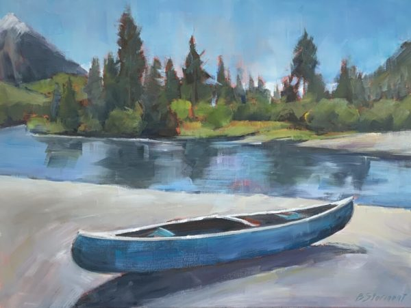 Blue Canoe by Beth Stormont