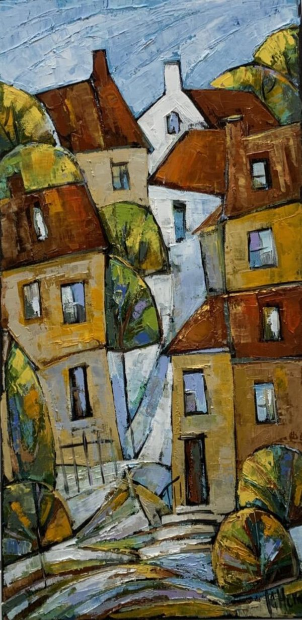 Rooftops 2 by Galina Herndon