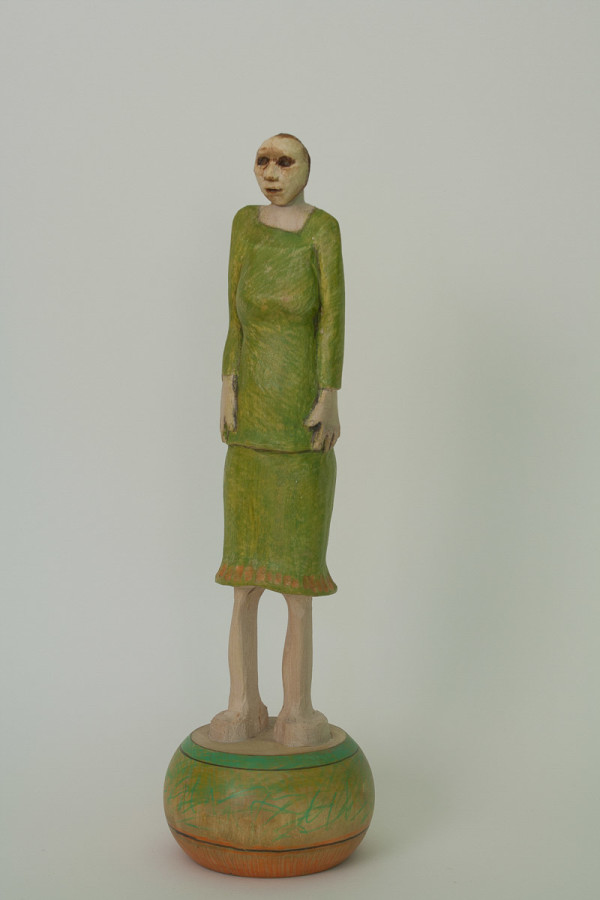 Green Dress Doll by Eve Whitaker