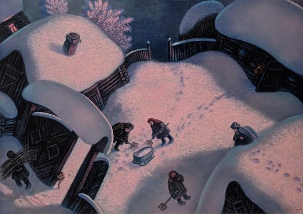 Shoveling Snow* by W Aumapgahob