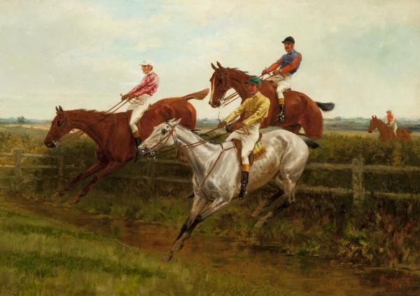 Steeplechase (set of 4) by Thomas Blinks
