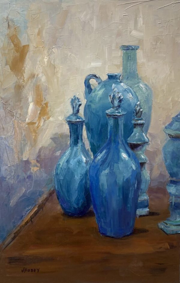 Blue Bottles by Jeany Posey
