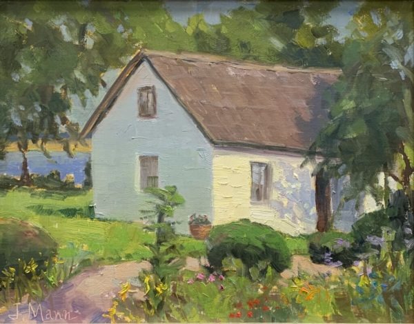 Cottage by the river by Julie Mann