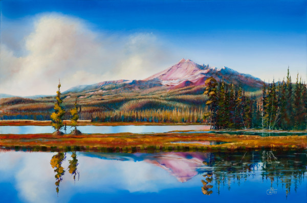 Broken Top on Sparks Lake by Pat Cross