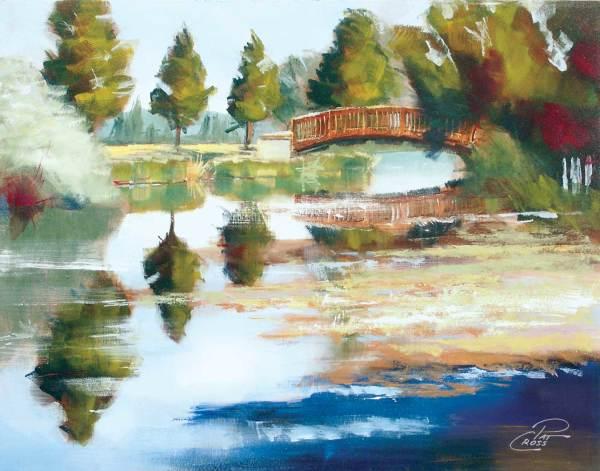 Bridge Over Sunriver by Pat Cross