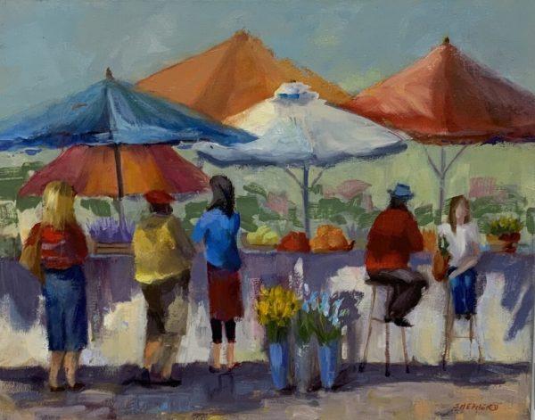 French Marketplace by Liz Shepherd