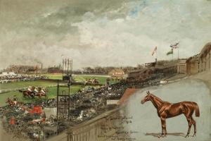 Set of Five Grand National Steeplechase Paintings