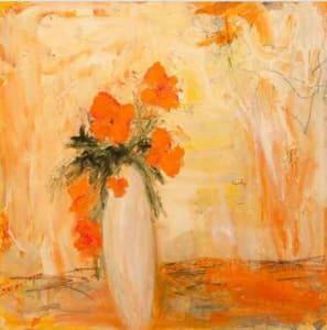 Orange Flowers - Print #123 of 25