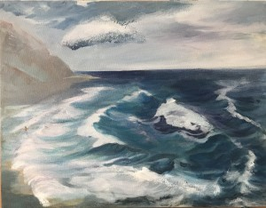 The Surfer & The Overwhelming Power - Blue Wave II - Yachts