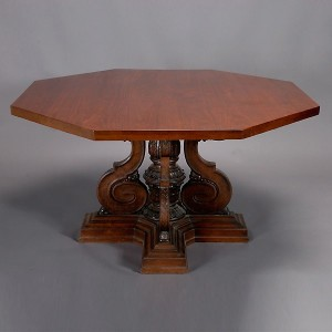 American School, Renaissance Revival Hexagonal Table