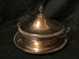 French, Empire Style Silver Plated Vegetable Tureen