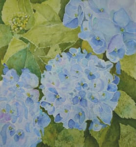 """Big Blue Blooms"""