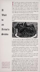 Visit to Artist Studio