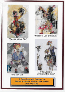Note Card Set - Collage Figures