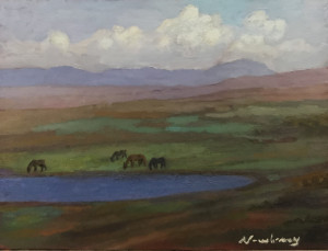 "Newberry, San Miguel, 2020, oil, 9x12"""