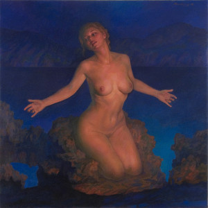 "Newberry, Venus, 2008, oil on linen, 48x48"""