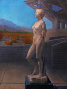 "Newberry, Promethia 2: The Noble Soul Has Reverence For Itself, 2013, oil on linen, 78x58"""