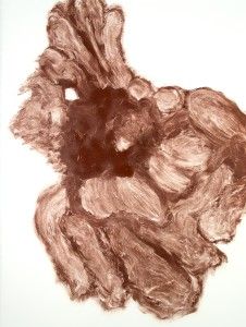 Monotype in Burnt Umber and Red Oxide