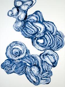 Monotype in Prussian Blue, 10.Dec.2017