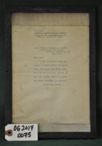 J. J. P. Letter of Acceptance as Honorary Member