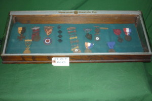 Assorted Medals in Case