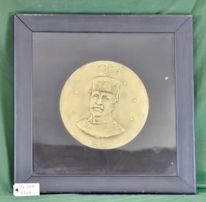 Marshal Ferdinand Foch Framed Medallion