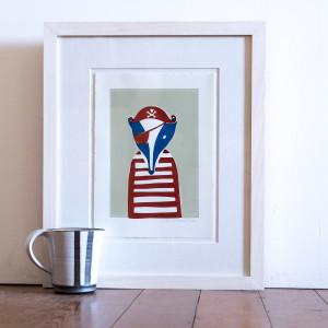 Jolly Badger (Framed)