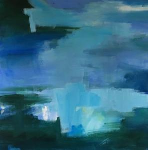 Blue + Forest Diptych A