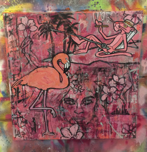 pink. (Flamingo)