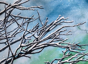 Snow on Branches III