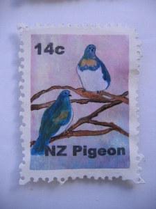 Carved Stamp - Pigeon . 090