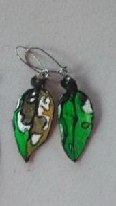 Pohutukawa Leaf Earrings 156