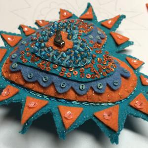 Milagros ~ turquoise and orange