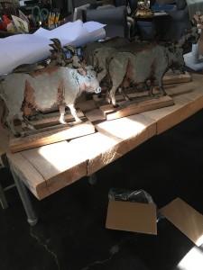 Nic/nacks - Metal Etching Cow/Sheep